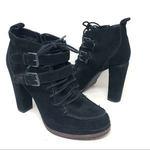 Dolce Vita Suede Platform Lace Up Ankle Boots